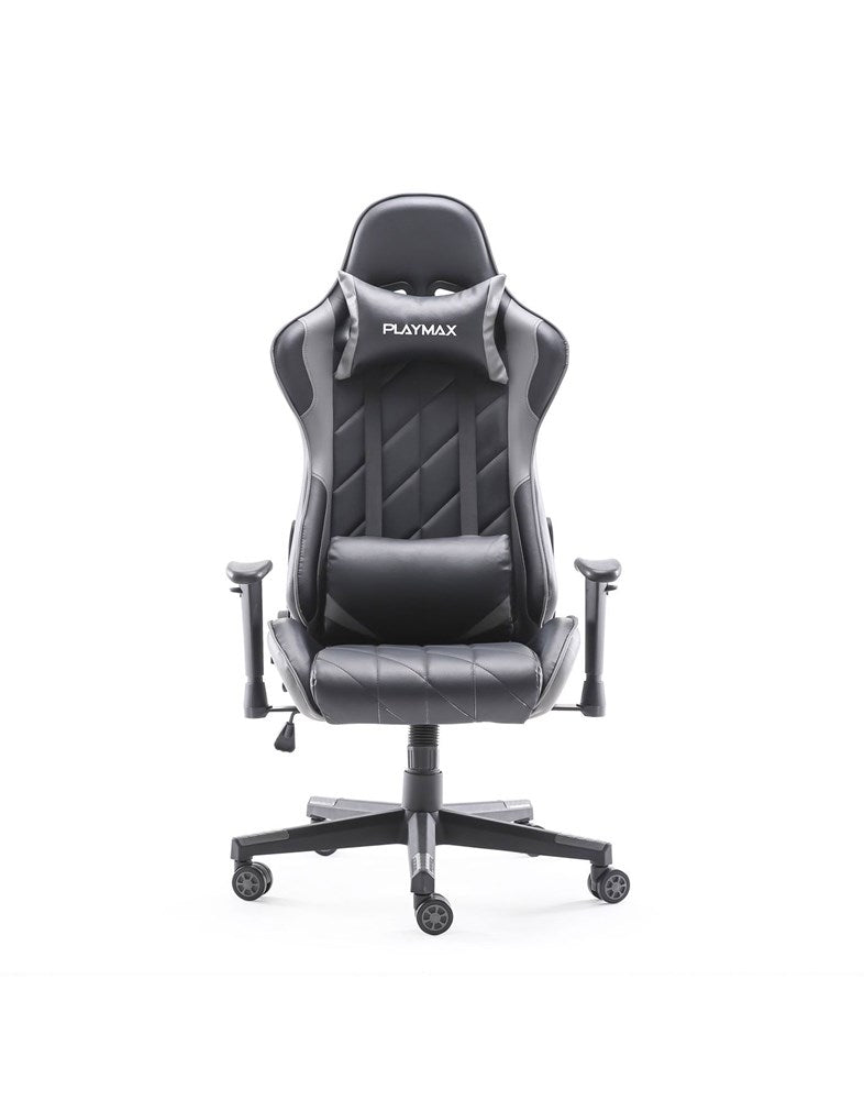 Playmax Elite Gaming Chair Steel Grey and Black