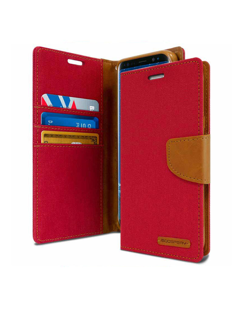 Goospery Canvas Diary Samsung Galaxy J8 Wallet Case