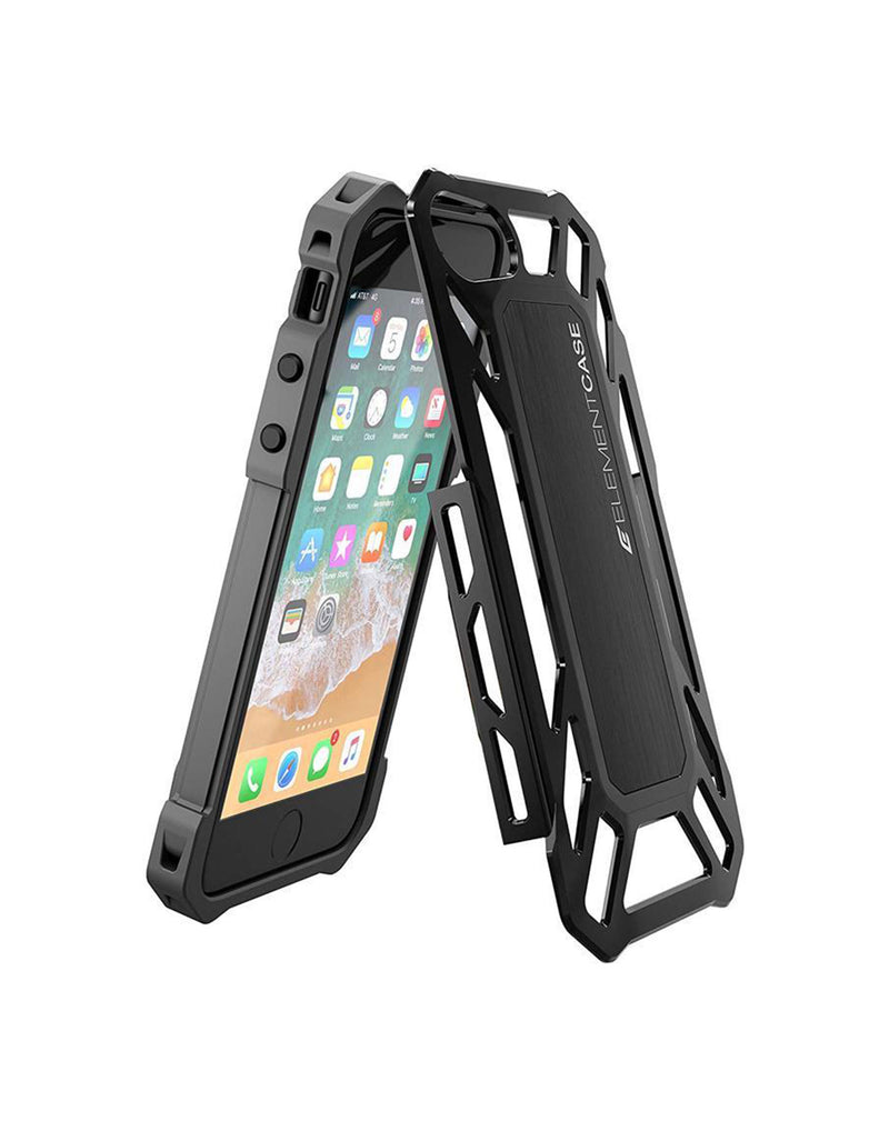 Element Roll Cage Drop Shock Case For iPhone 7/8 For High Impact Protection Black (5669335597217)
