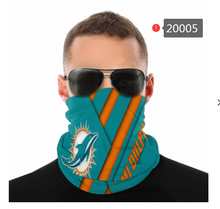 Load image into Gallery viewer, Miami Dolphins Face Mask - Bandana, Neck Gaiter, Reuseable, Washable