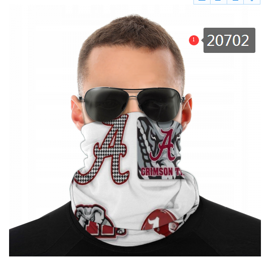 Alabama Crimson Tide Face Mask - Bandana, Neck Gaiter, Reuseable, Washable, Several Styles