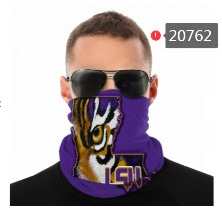 LSU Tigers Face Mask - Bandana, Neck Gaiter, Reuseable, Washable, Several Styles
