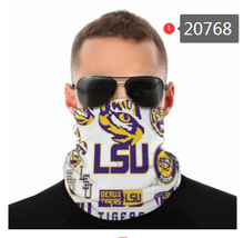 Load image into Gallery viewer, LSU Tigers Face Mask - Bandana, Neck Gaiter, Reuseable, Washable, Several Styles