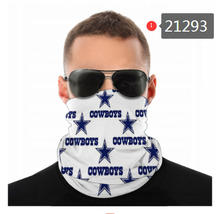 Load image into Gallery viewer, Dallas Cowboys Face Mask - Bandana, Neck Gaiter, Reuseable, Washable