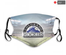 Load image into Gallery viewer, Colorado Rockies Face Mask - Reuseable, Fashionable, Several Styles