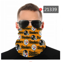 Load image into Gallery viewer, Pittsburgh Steelers Face Mask - Bandana, Neck Gaiter, Reuseable, Washable
