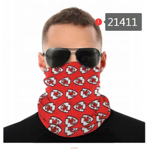 Load image into Gallery viewer, Kansas City Chiefs Face Mask - Bandana, Neck Gaiter, Reuseable, Washable