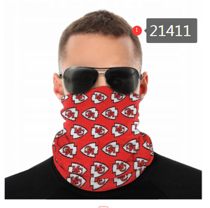 Kansas City Chiefs Face Mask - Bandana, Neck Gaiter, Reuseable, Washable
