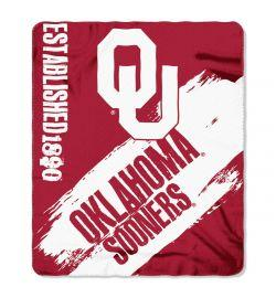 "Oklahoma Sooners Blanket - ""Painted""  Fleece Throw (50"" x 60"")"