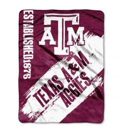 "Texas A&M Aggies Blanket - ""Painted""  Fleece Throw (50"" x 60"")"