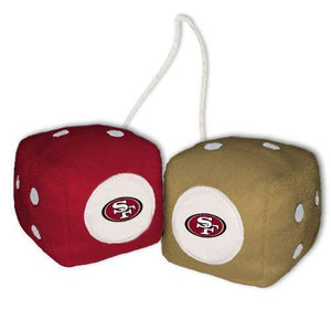 San Francisco 49ers Dice - Plush Fuzzy Dice