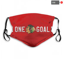 Load image into Gallery viewer, Chicago Blackhawks Face Mask - Reuseable, Fashionable, Washable, Several Styles