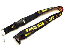 Load image into Gallery viewer, Arizona State Sun Devils reversible lanyard keychain