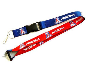 Arizona Wildcats reversible lanyard keychain