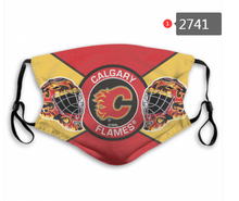 Load image into Gallery viewer, Calgary Flames Face Mask - Reuseable, Fashionable, Washable