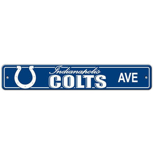 "Indianapolis Colts Sign - Street Sign - 4""x24"""