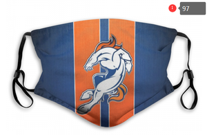 Denver Broncos Face Mask- Reuseable, Fashionable, Several Styles