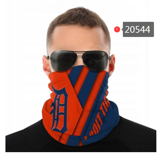 Detroit Tigers Face Mask - Bandana, Neck Gaiter, Reuseable, Washable