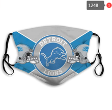Load image into Gallery viewer, Detroit Lions Face Mask- Reuseable, Fashionable, Several Styles