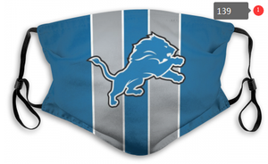 Detroit Lions Face Mask- Reuseable, Fashionable, Several Styles