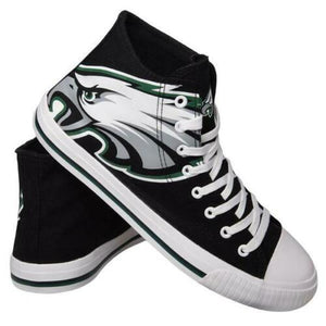 Philadelphia Eagles Shoes - Men's High Top Canvas Big Logo Shoes