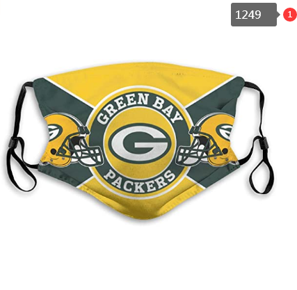 Green Bay Packers Face Mask - Reuseable, Fashionable, Several Styles