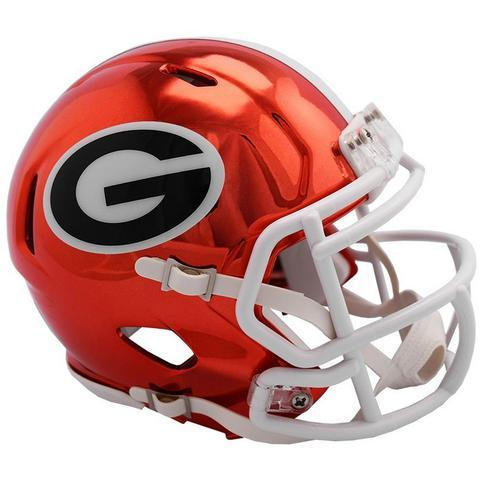 Georgia Bulldogs Helmet - Chrome Mini Football Helmet