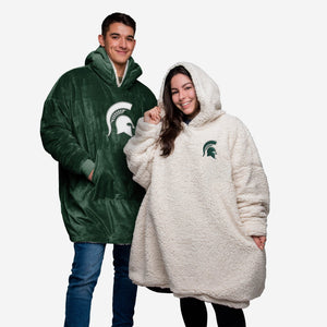 Michigan State Spartans Hoodie - Reversible Big Logo