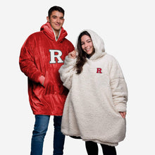Load image into Gallery viewer, Rutgers Scarlet Knights Hoodie - Reversible Big Logo