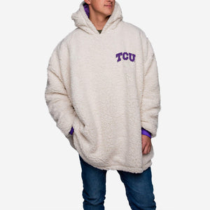 TCU Horned Frogs Hoodie - Reversible Big Logo