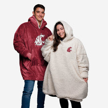 Load image into Gallery viewer, Washington State Cougars Hoodie - Reversible Big Logo