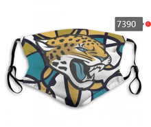Load image into Gallery viewer, Jacksonville Jaguars Face Mask- Reuseable, Fashionable, Several Styles
