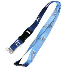 Load image into Gallery viewer, Kansas City Royals reversible lanyard - keychain badge holder