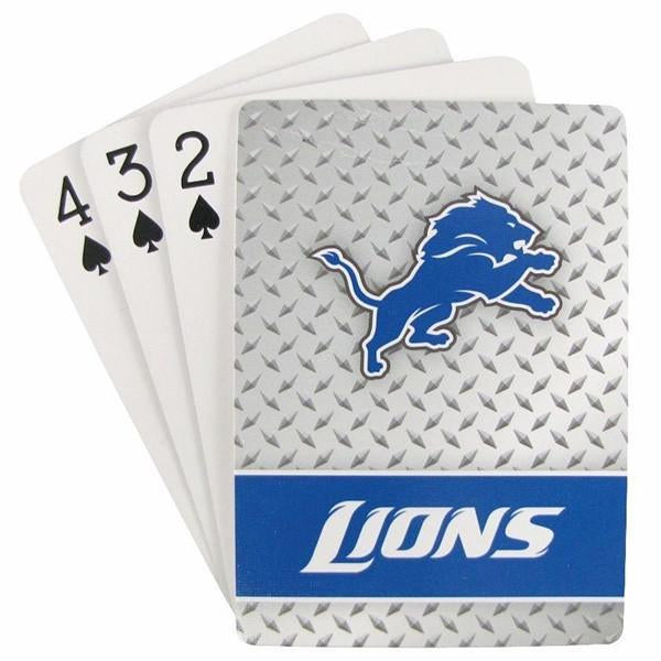 Detroit Lions Playing Cards - Diamond Plate