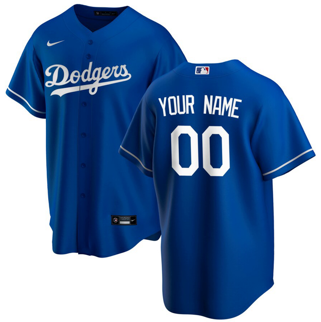 Los Angeles Dodgers Jersey - Custom Name and Number - Blue