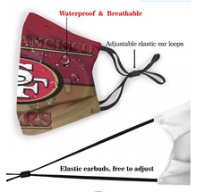 Load image into Gallery viewer, Wisconsin Badgers Face Mask - Reuseable, Fashionable, Washable