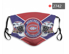 Load image into Gallery viewer, Montreal Canadiens Face Mask - Reuseable, Fashionable, Washable