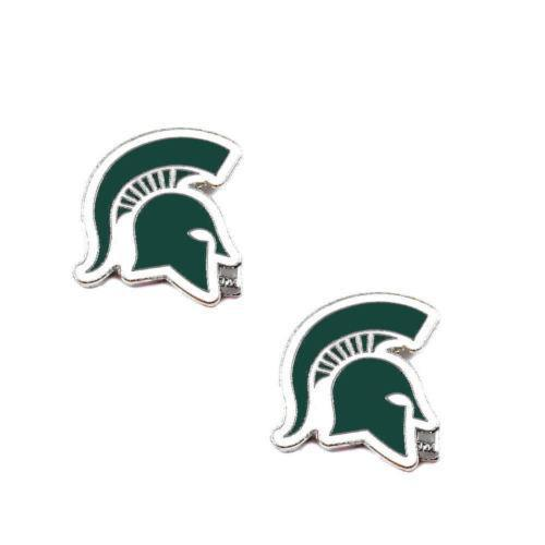 Michigan State Spartans earrings - post stud earrings