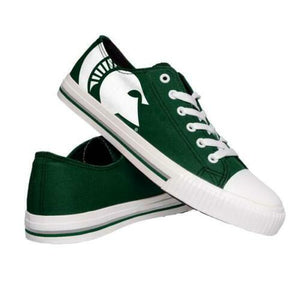 Michigan State Spartans Shoes - Mens Low Top Big Logo Canvas