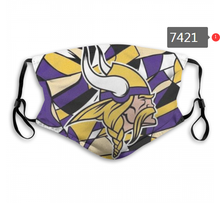 Load image into Gallery viewer, Minnesota Vikings Face Mask - Reuseable, Fashionable, Several Styles