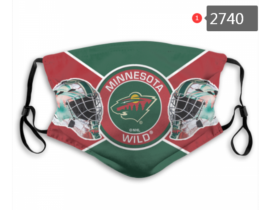 Minnesota Wild Face Mask - Reuseable, Fashionable, Washable, Several Styles