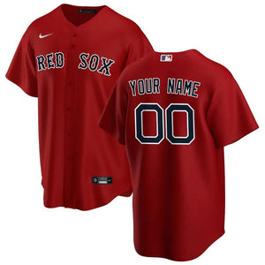 Boston Red Sox Jersey - Custom Name and Number - Red