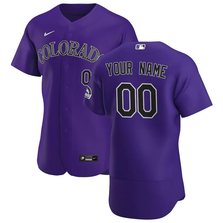 Colorado Rockies Jersey - Custom Name and Number - Purple