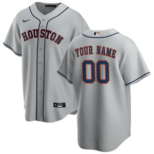 Houston Astros Jersey - Custom Name and Number - Grey