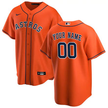 Load image into Gallery viewer, Houston Astros Jersey - Custom Name and Number - Orange