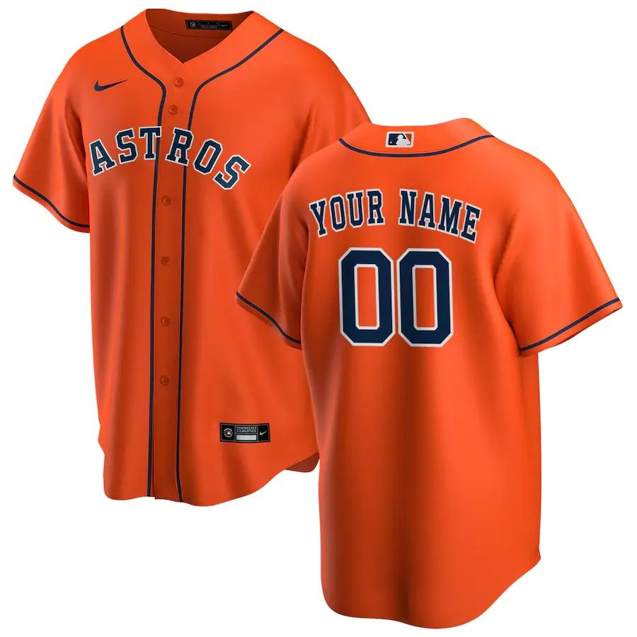 Houston Astros Jersey - Custom Name and Number - Orange