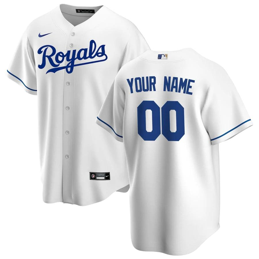 Kansas City Royals Jersey - Custom Name and Number - White