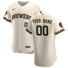 Load image into Gallery viewer, Milwaukee Brewers Jersey - Custom Name and Number - Cream w/ patch