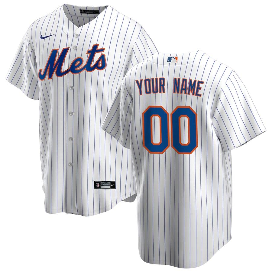 New York Mets Jersey - Custom Name and Number - White