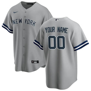 New York Yankees Jersey - Custom Name and Number - Grey